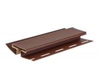 H-профиль (соеденительная планка) коричневый для винилового сайдинга Grand Line, 3,05м
