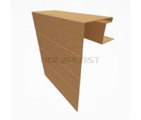 Околооконная планка для винилового бревна Holzblock (Хольцблок), Каштан (3,00м)