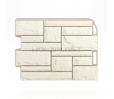 Цокольный сайдинг Holzplast Wandstein Бут Weiss / Белый