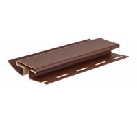 H-профиль (соеденительная планка) коричневый для винилового сайдинга Docke, 3,05м