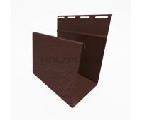Наличник для винилового бревна Holzblock (Хольцблок), Темно-коричневый (3,00м)