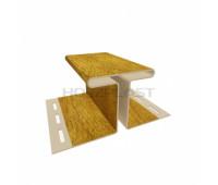 Н-профиль для винилового бревна Holzblock (Хольцблок) – 75 мм, Золотой дуб (3,00м)