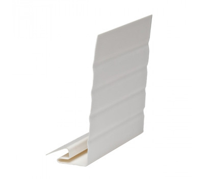 J-фаска ( ветровая, карнизная планка ) белая для  сайдинга VINYLON