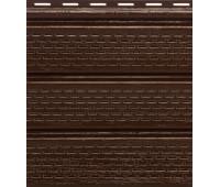 Софит коричневый  полностью перфорированный  Альта-Профиль Kanada Плюс