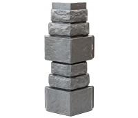 Угол для цокольного сайдинга Т-сайдинг Дикий камень - Камень Серый