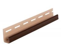 J-профиль (J-trim) коричневый для винилового сайдинга Grand Line