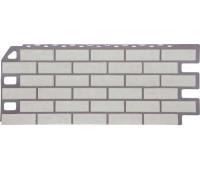 Цокольный сайдинг Fineber коллекция Кирпич - Мелованный белый