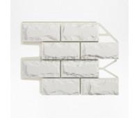 Цокольный сайдинг Holzplast Wandstein Доломит Weiss / Белый
