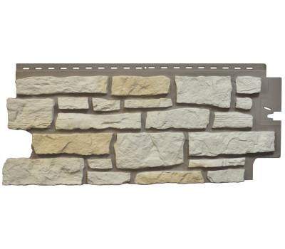 Цокольный сайдинг Nailite Creek Ledgestone (Бутовый камень) Ivory White