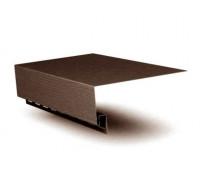 Приоконная планка (околооконный профиль) коричневый для  сайдинга Grand Line