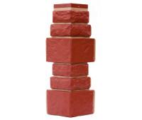 Угол для цокольного сайдинга Т-сайдинг Дикий камень - Камень Бордо