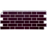 Цокольный сайдинг Fineber коллекция Кирпич облицовочный Britt - Дерби (тёмно-бордовый)