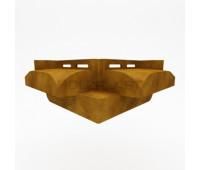 Начальная планка для угла Венец Holzblock (Хольцблок) - 180 мм, Золотой дуб