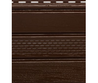 Софит коричневый с центральной перфорацией  Альта-Профиль Kanada Плюс