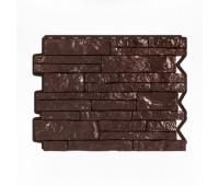 Цокольный сайдинг Holzplast Wandstein Парфир Dunkelbraun / Темно-коричневый
