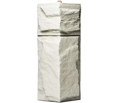 Угол для цокольного сайдинга Т-сайдинг Гранит Леон - Гранит Белый