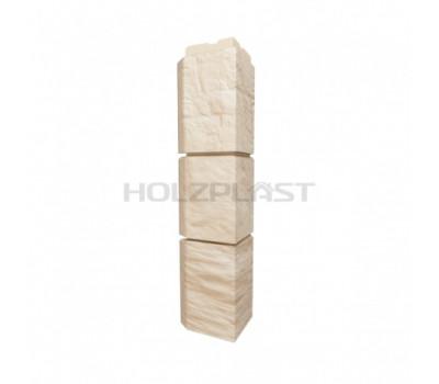 Внешний Угол Holzplast Wandstein для коллекции Туф Светло-бежевый