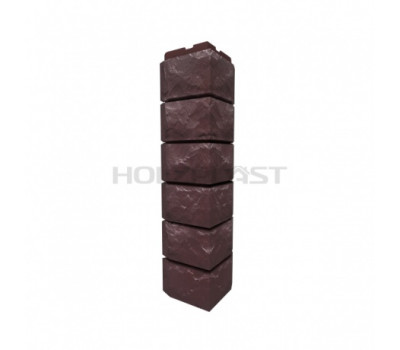 Внешний Угол Holzplast Wandstein для коллекции Скол Темно-коричневый