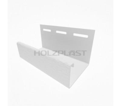 J-профиль для винилового бревна Holzblock (Хольцблок), Белый (3,00м)