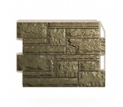 Цокольный сайдинг Holzplast Wandstein Бут Olivegreen / Оливковый