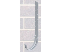 Кронштейн желоба Белый металлический для водосточной системы Альта-Профиль (Россия)