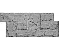 Цокольный сайдинг Т-сайдинг коллекция Гранит Леон - Гранит Серый