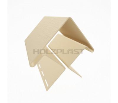 Внешний угол для винилового бревна Holzblock (Хольцблок), Светло-бежевый (3,00м)