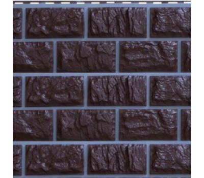 Цокольный сайдинг Доломит коллекция Альпийский прокрашенные швы - Корица