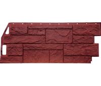 Цокольный сайдинг Fineber коллекция Камень Природный - Красно-коричневый