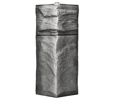 Угол для цокольного сайдинга Т-сайдинг Гранит Леон - Гранит Серый