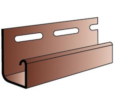 J-профиль (J-trim) для винилового сайдинга Альта-Профиль под Блокхаус