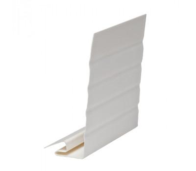 J-фаска ( ветровая, карнизная планка ) белая для  сайдинга Ю-пласт