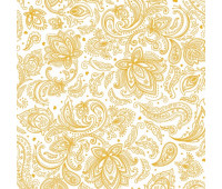 Панель ПВХ Б-Пласт панель №350-4 Текстильный Орнамент Золотой