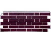 Цокольный сайдинг Fineber коллекция Кирпич облицовочный Britt - Рединг (бордовый)