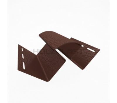 Внутренний угол для винилового бревна Holzblock (Хольцблок), Темно-коричневый (3,00м)