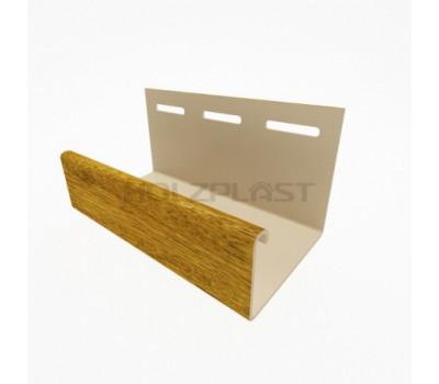 J-профиль для винилового бревна Holzblock (Хольцблок), Золотой дуб (3,00м)