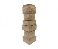 Угол наружный Цокольный сайдинг NORDSIDE «Камень северный» Песочный