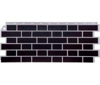 Цокольный сайдинг Fineber коллекция Кирпич облицовочный Britt - Честер (чёрно-коричневый)