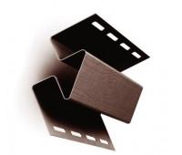 Внутренний угол коричневый для винилового сайдинга Ю-пласт