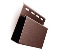 Наличник ( J-профиль широкий ) коричневый для винилового сайдинга Ю-пласт