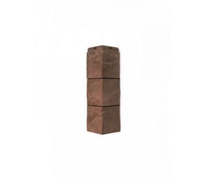 Угол наружный для Цокольного сайдинга Docke коллекция Fels Ржаной