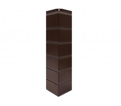 Угол наружный Цокольный сайдинг NORDSIDE «Кирпич гладкий» Темно-коричневый