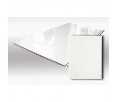 Белая ПВХ панель Глянцевая