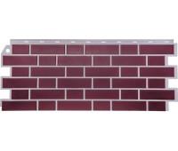 Цокольный сайдинг Fineber коллекция Кирпич облицовочный Britt - Йорк (тёмно-розовый)