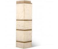 Угол наружный для цокольного сайдинга Альта Профиль КОЛЛЕКЦИЯ «КАМЕНЬ» Белый