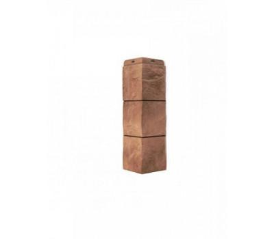 Угол наружный для Цокольного сайдинга Docke коллекция Fels Терракотовый