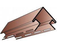 Внешний (наружный) угол для винилового сайдинга Альта-Профиль под Блокхаус