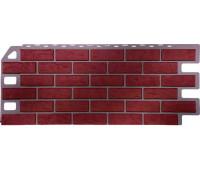 Цокольный сайдинг Fineber коллекция Кирпич - Красный обожженый