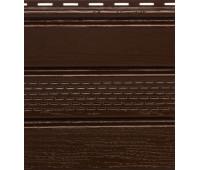 Софит коричневый с центральной перфорацией