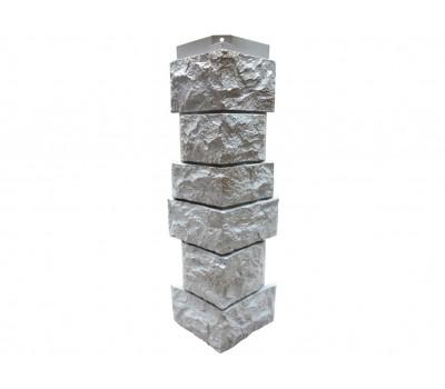 Угол наружный Цокольный сайдинг NORDSIDE «Камень северный» Серый